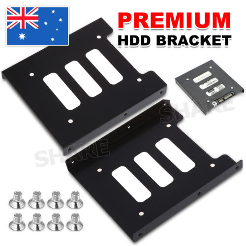 "OZ Black 2.5"" SSD to 3.5"" Bay Hard Drive HDD Mounting Dock Tray Bracket Adapter"