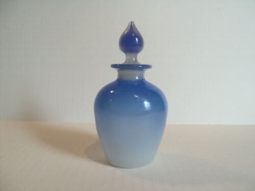 VINTAGE ALABASTER ART GLASS COLOGNE / PERFUME BOTTLE, STEVENS & WILLIAMS??