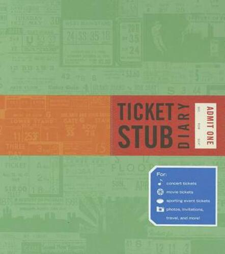 Ticket Stub Diary by Eric Epstein (English) Hardcover Book Free Shipping!