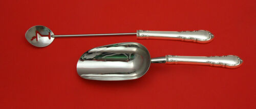Modern Victorian by Lunt Sterling Silver Bar Set 2pc HHWS  Custom Made