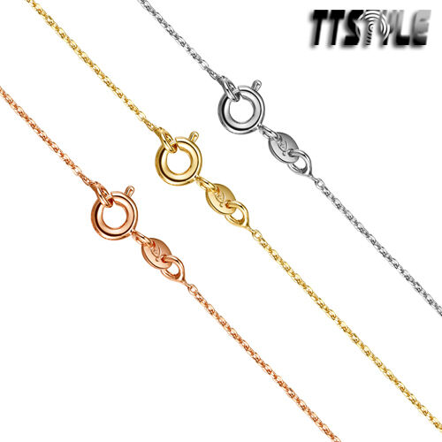 TT Thin 0.8mm Gold Filled Rolo Chain Necklace 35-60cm (CF158)