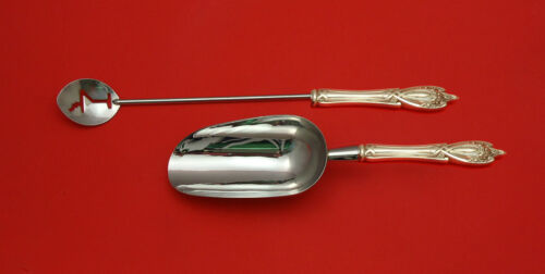 Monticello by Lunt Sterling Silver Bar Set 2pc HHWS  Custom Made