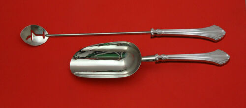 French Regency by Wallace Sterling Silver Bar Set 2pc HHWS  Custom Made