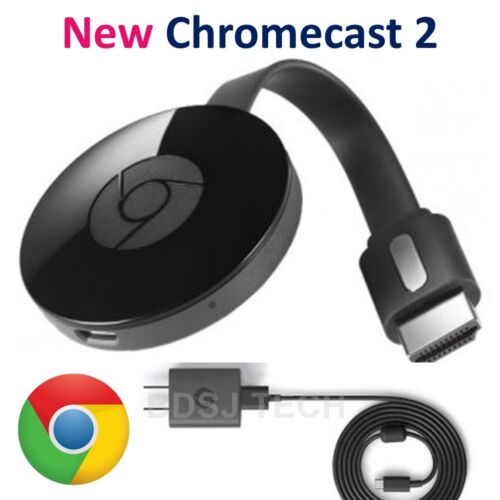 Google Chromecast - Digital HD Media Streamer 2 (Latest Model - New Retail Box)