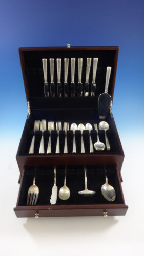 Horizon by Easterling Sterling Silver Flatware Set For 8 Service 46 Pieces