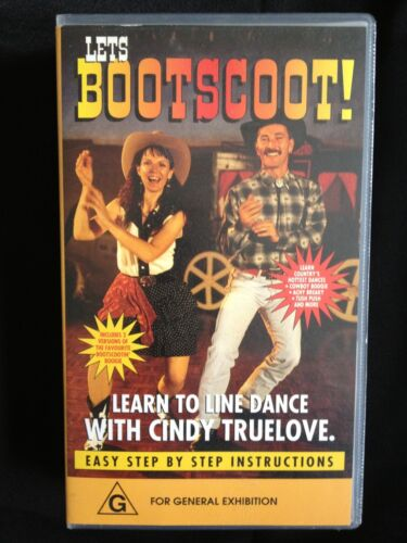 LETS BOOTSCOOT! LEARN TO LINE DANCE / DANCING CINDY TRUELOVE ~ RARE VHS VIDEO