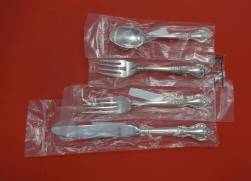 Delacourt by Lunt Sterling Silver Regular Size Place Setting(s) 4pc New