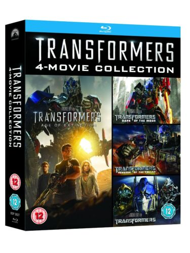 """TRANSFORMERS COMPLETE MOVIE COLLECTION 1- 4 BLU-RAY 4 DISCS REG B """"NEW&SEALED"""""""
