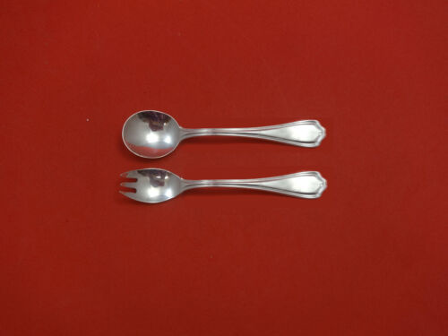 """Hepplewhite by Reed & Barton Sterling Silver Baby Childs Set 2pc 4 3/4"""" Custom"""