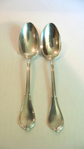 """PAIR ANTIQUE GORHAM STERLING SILVER """"COTTAGE"""" TABLE SPOONS"""