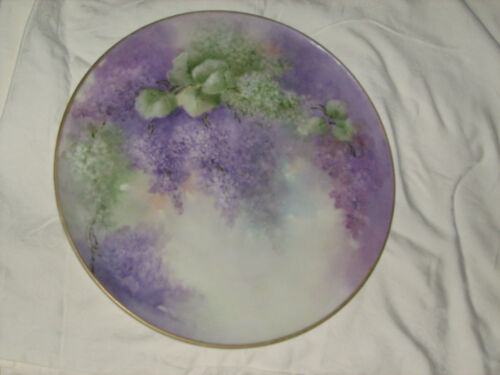 Limoges Antique Charger,  HAND PAINTED Wisteria Flowers Vines! SALE!