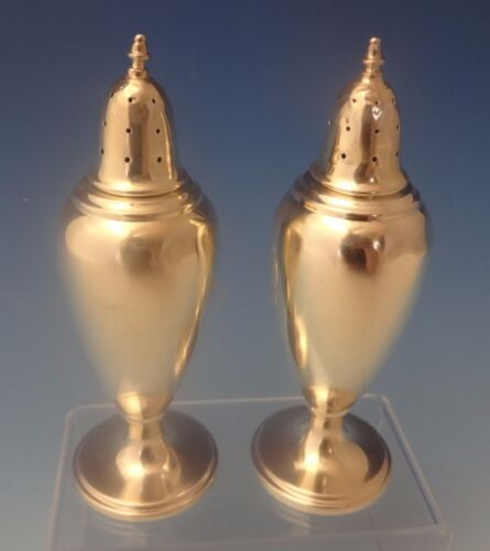 Pointed Antique by Dominick & Haff Sterling Silver Salt & Pepper Shakers (#0215)