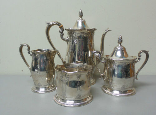 Wallace STRADIVARI Sterling Silver 4-Piece Coffee / Tea Set
