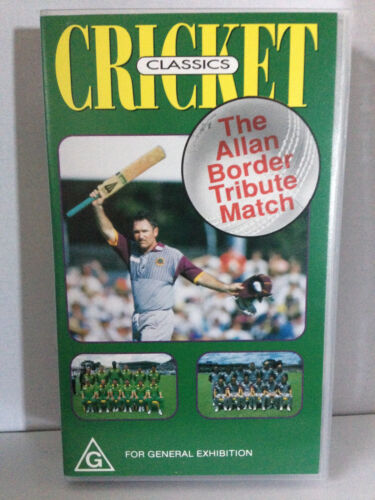 CRICKET CLASSICS ~ THE ALLAN BORDER TRIBUTE MATCH ~ RARE VHS VIDEO
