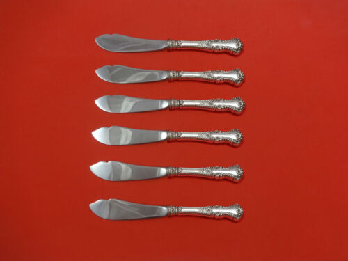 """Cambridge by Gorham Sterling Silver Trout Knife Set 6pc 7 1/2"""" HHWS  Custom Made"""