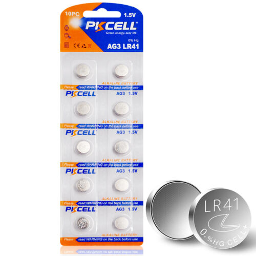 10PC AG3 LR41 GP192 V3GA SR41 192 392 Watch Button Coins Cell Battery PKCELL New