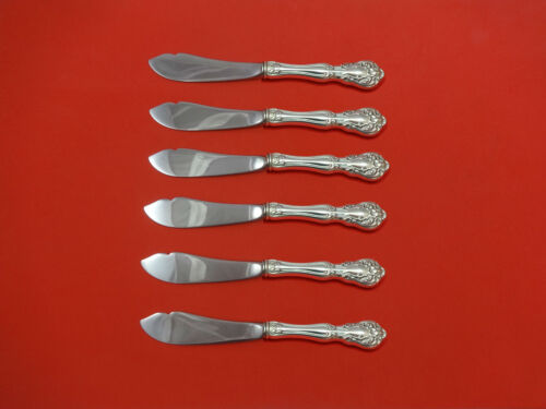 Chateau Rose by Alvin Sterling Silver Trout Knife Set 6pc HHWS  Custom Made
