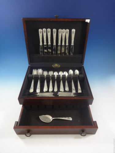 Old Maryland Engraved by Kirk Sterling Silver Flatware Set 8 Service 49 Pieces
