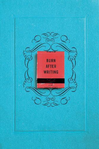 Burn After Writing by Sharon Jones (English) Paperback Book Free Shipping!