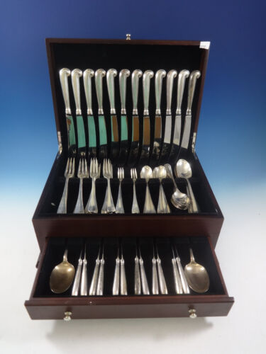 Queen Anne Williamsburg by Stieff Sterling Silver Dinner 12 Flatware Set 86 Pcs