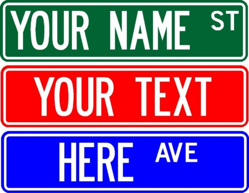 """PERSONALIZED CUSTOM STREET SIGN, 6""""X24"""" MAKE YOUR OWN SIGN - FREE SHIPPING"""