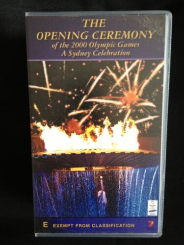 THE OPENING CEREMONY of the 2000 OLYMPIC GAMES ~ A SYDNEY CELEBRATION ~VHS VIDEO