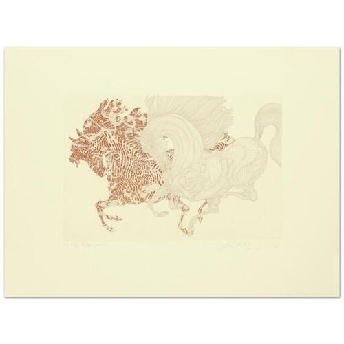 """Guillaume Azoulay! """"Harlequin"""" Limited Edition Etching"""