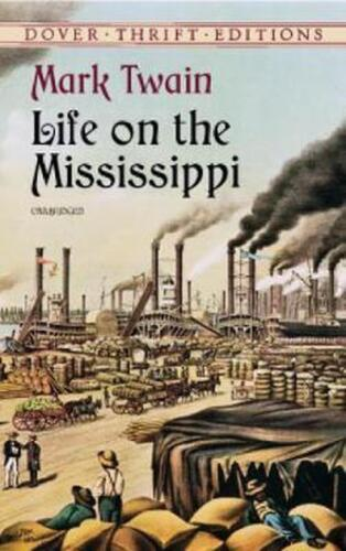 Life on the Mississippi by Mark Twain (English) Paperback Book Free Shipping!