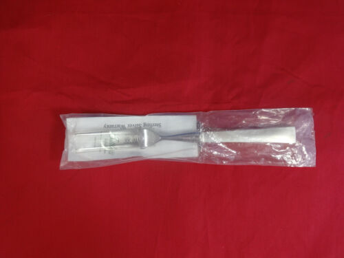 """Continental by Tuttle Sterling Silver Steak Carving Fork HHWS 9 1/4"""" New"""