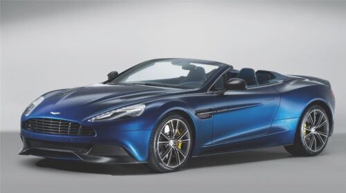 "Blue Aston Martin Volante - 42"" x 24"" LARGE WALL POSTER PRINT NEW."