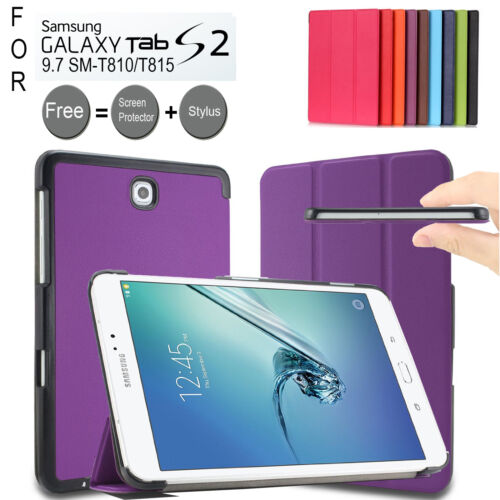 Slim Smart Folio Stand Type Case Cover For Samsung Galaxy Tab S2 9.7 T810/T815