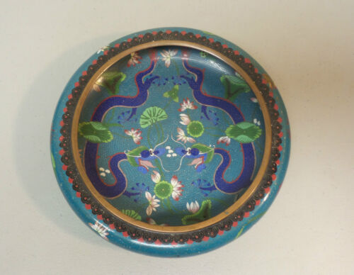 19th C. CHINESE CLOISONNE on BRONZE DRAGON BOWL, TONGZHI MARK, QING DYNASTY