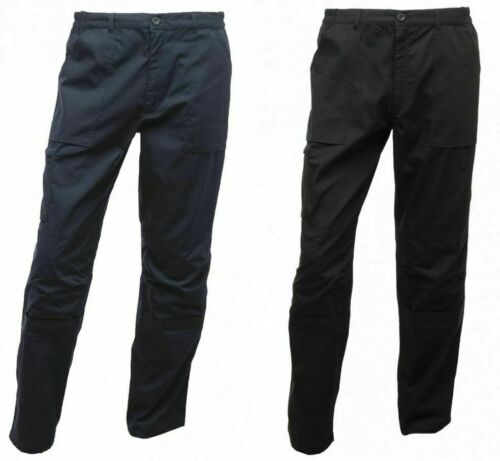 REGATTA MENS WORKWEAR ACTION TROUSERS NAVY BLUE or BLACK TRJ333  <br/> RRP £34.99 BUY ANY 2 PAIR FOR £15.98 FREE UK POSTAGE