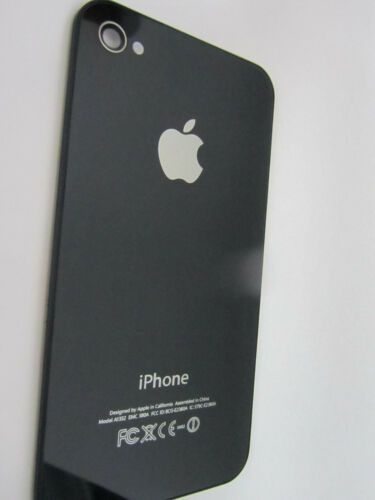 ORIGINAL iPHONE 4 4G BACK REAR COVER GLASS DOOR HOUSING REPLACEMENT BLACK
