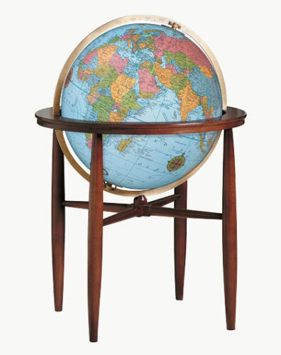 Replogle Finley Illuminated Floor Globe - Blue Ocean - 20 Inch