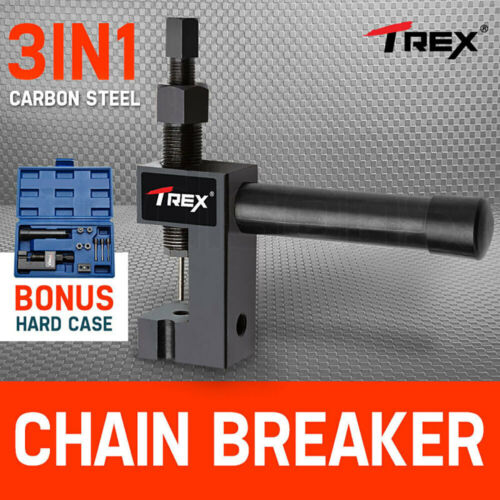 NEW T-REX Chain Breaker Tool 3in1 Riveter Presser Motorcycle BMX Bike Bicycle <br/> Carbon Steel, Drop Forged, Heat Treated - 1Yr Warranty
