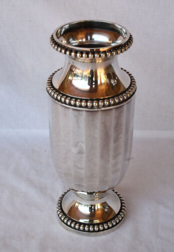 MAGNIFICENT 1900'S FRENCH STERLING SILVER VASE