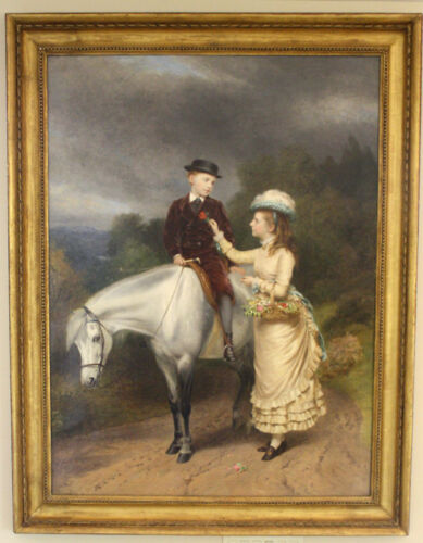 MAGNIFICENT 1877 OIL ON CANVAS  PAINTING BY R ANSDELL & SSIDLEY LISTED  ARTIST