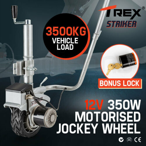 T-REX Motorised Jockey Wheel Electric Power Mover 12V 350W Caravan Trailer Boat <br/> 20% OFF. Must use Checkout Code PATRON20. Ends 29/10.