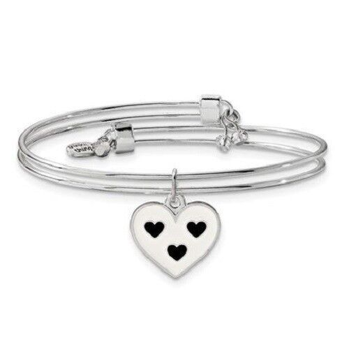 """Silver-Tone Trinky Things """" Maid of Honor """"  Bracelet with Note Card Box Heart"""