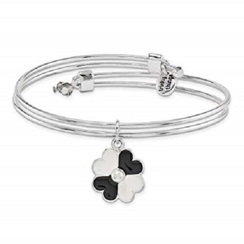 """Silver-Tone Trinky Things """"Mother of Groom """" Bracelet with Note Card Box Heart"""