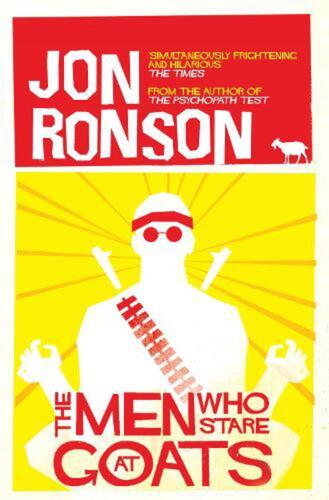 The Men Who Stare at Goats by Jon Ronson Paperback Book Free Shipping!