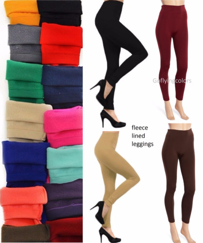 Women's Fleece Lined Solid Colors Winter Thick Warm Thermal Stretchy Leggings