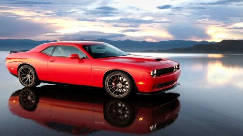 "Red Supercharged Dodge Challenger - 42"" x 24"" LARGE WALL POSTER PRINT NEW"