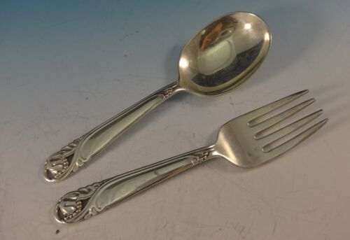 """Spring Glory by International Sterling Silver Baby Set 2pc 4"""""""