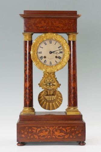 Monumental & Beautiful Balthazard French Portico Clock Just Serviced!