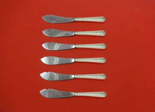"""Old Brocade  by Towle Sterling Silver Trout Knife Set 6pc. HHWS  Custom 7 1/2"""""""