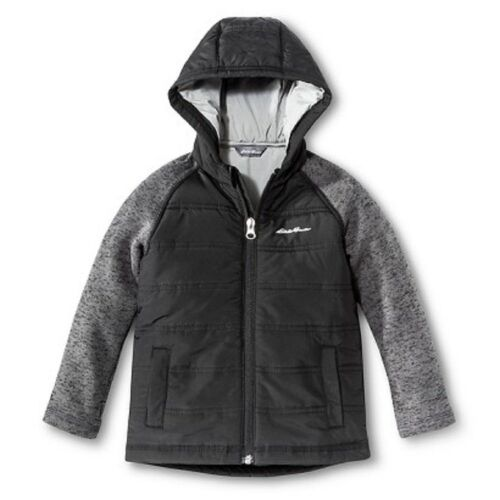 Eddie Bauer Toddler Boys Hybrid Jacket Hoodie Coat - Black - Size 2T