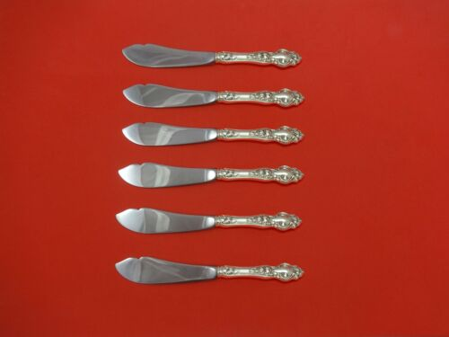 """Violet by Wallace Sterling Silver Trout Knife Set 6pc. HHWS  Custom 7"""""""