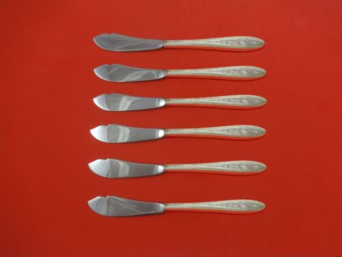 """Wedgwood by International Sterling Silver Trout Knife Set 6pc. Custom 7 1/2"""""""